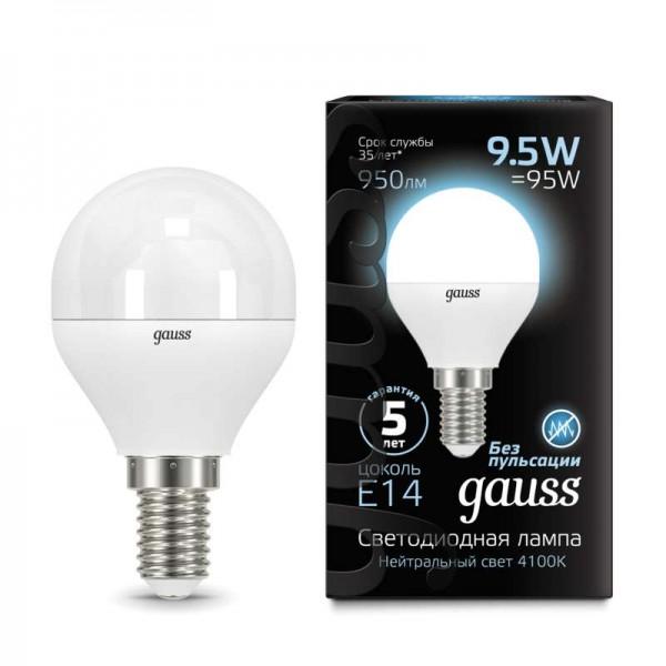 Лампа светодиодная Black Globe E14 9.5Вт 4100К Gauss 105101210