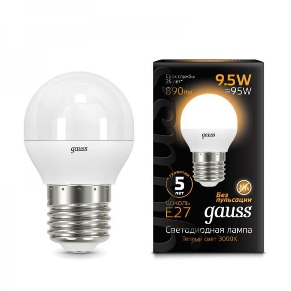 Лампа светодиодная Black Globe E27 9.5Вт 3000К Gauss 105102110