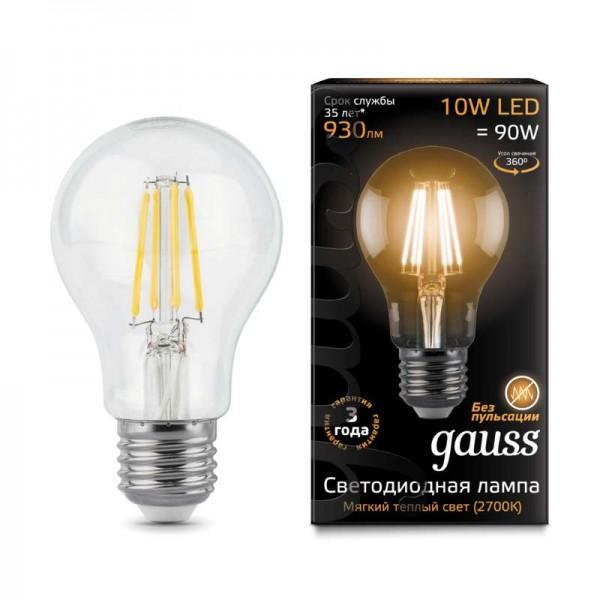 Лампа светодиодная Black Filament A60 E27 10Вт 2700К Gauss 102802110