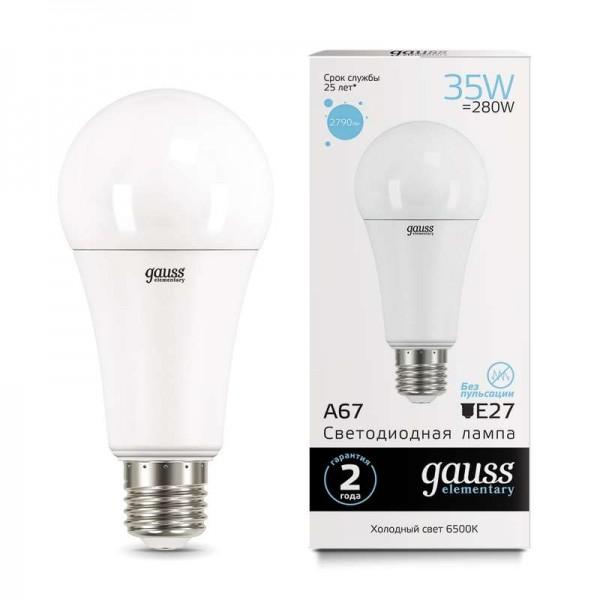 Лампа светодиодная Elementary A67 35Вт E27 6500К Gauss 70235