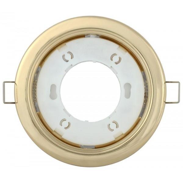 Светильник встраиваемый под лампу GX53 золото IEK LUVB0-GX53-1-K22