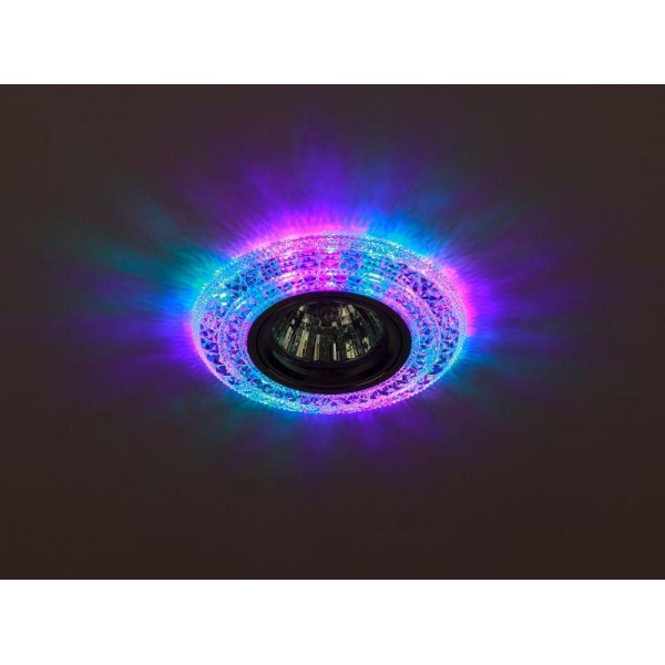 Светильник DK LD3 SL/RGB декор cо светодиодной подсветкой (мультиколор) прозр. ЭРА Б0019205