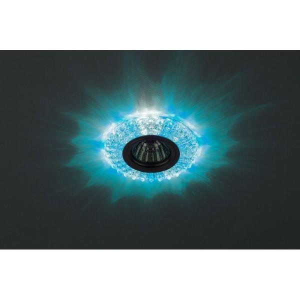 Светильник DK LD2 SL/BL+WH декор cо светодиодной подсветкой (голубой+белый) прозр. ЭРА Б0019200