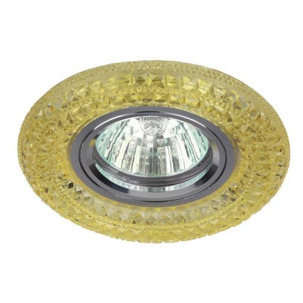 Светильник DK LD3 YL/WH декор cо светодиодной подсветкой MR16 желт. ЭРА Б0028092