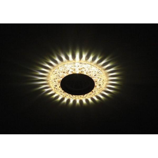 Светильник DK LD4 CHP/WH декор cо светодиодной подсветкой MR16 шампань ЭРА Б0028122