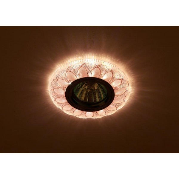 Светильник DK LD5 PK/WH декор cо светодиодной подсветкой MR16 роз. ЭРА Б0028089