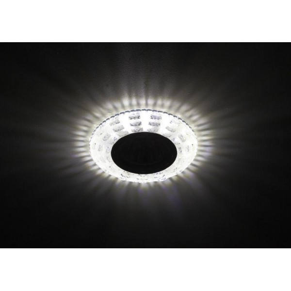 Светильник DK LD8 SL/WH декор cо светодиодной подсветкой MR16 прозр. ЭРА Б0028083