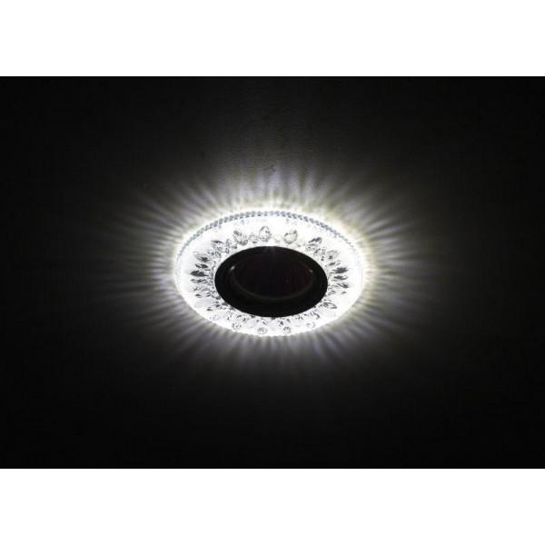 Светильник DK LD9 SL/WH декор cо светодиодной подсветкой MR16 прозр. ЭРА Б0028080