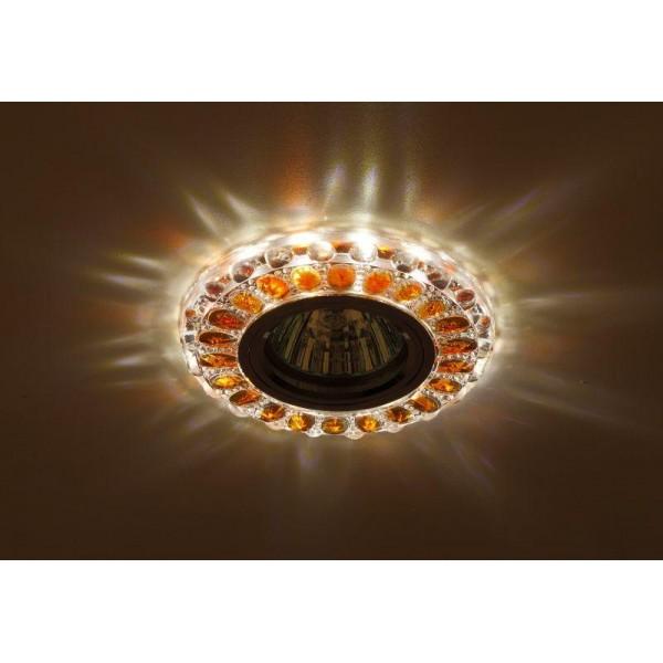 Светильник DK LD10 SL OR/WH декор cо светодиодной подсветкой MR16 прозр. оранж. ЭРА Б0028093