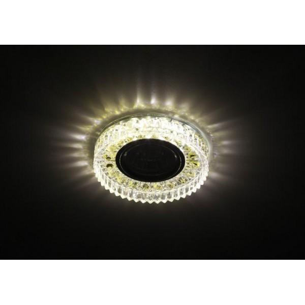 Светильник DK LD14 SL/WH декор cо светодиодной подсветкой MR16 прозр. ЭРА Б0028079
