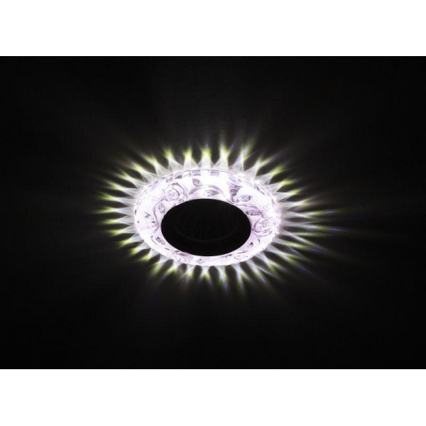 Светильник DK LD16 PK/WH декор cо светодиодной подсветкой MR16 роз. ЭРА Б0028084