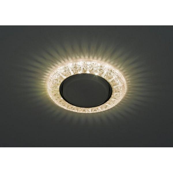 Светильник DK LD22 CHP/WH GX53 декор со светодиод. подсветкой шампань ЭРА Б0029623