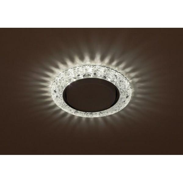 Светильник DK LD25 SL/WH GX53 декор со светодиод. подсветкой прозр. ЭРА Б0029635