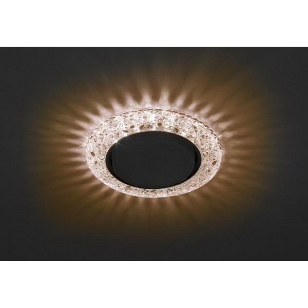 Светильник DK LD25 CHP/WH GX53 декор со светодиод. подсветкой шампань ЭРА Б0029636