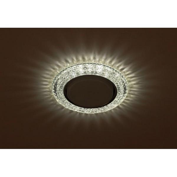 Светильник DK LD26 SL/WH GX53 декор со светодиод. подсветкой прозр. ЭРА Б0029638