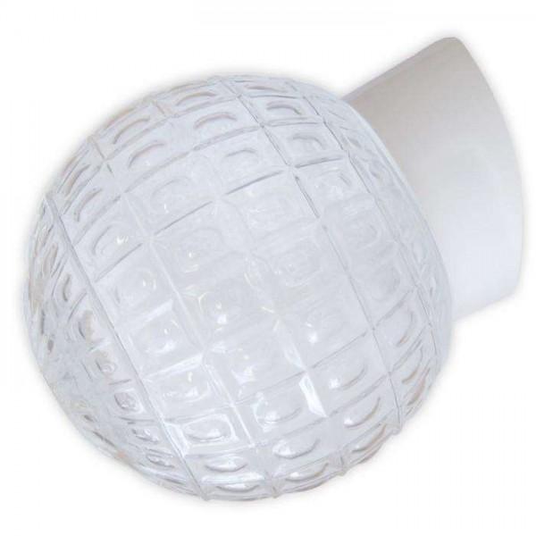 Светильник НББ 64-60-080 'Гранат' d150 1х60Вт E27 IP20 прозр./корпус наклонный бел. Элетех 1005100179