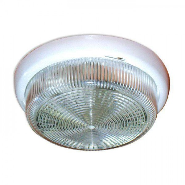 Светильник НБО 23-60-001 'Раунд' d220 1х60Вт E27 IP44 корпус бел. Элетех 1005500564
