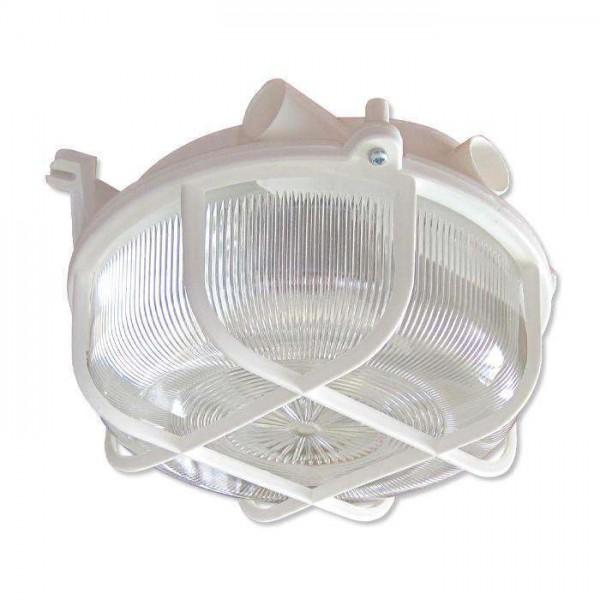 Светильник НПП 03-100-007 'Креа' круг 1х100Вт E27 IP44 корпус с решеткой бел. Элетех 1005500877
