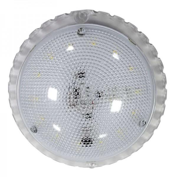 Светильник ЖКХ Сенсора LED ф133 7Вт 840лм 6500К IP50 с оптико-акустическим датчиком (инд. упак.) Элетех 1030450337