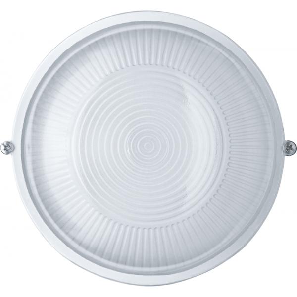 Светильник ЛОН 94 802 NBL-R1-60-E27/WH 1х60Вт E27 IP54 (аналог НПБ 1301 бел. круг 60Вт) Navigator 94802