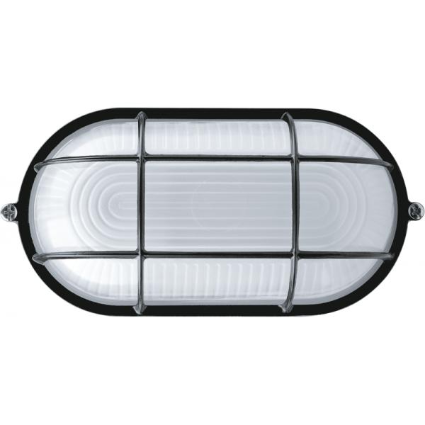 Светильник ЛОН 94 808 NBL-O2-60-E27/BL 1х60Вт E27 IP54 (аналог НПБ 1402 черн. овал с решеткой 60Вт) Navigator 94808