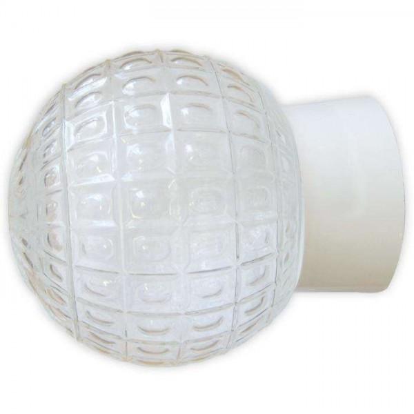 Светильник НББ 64-60-080 'Гранат' d150 1х60Вт E27 IP20 прозр./корпус прямой бел. Элетех 1005100178