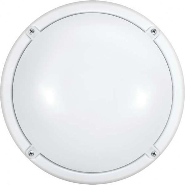 Светильник светодиодный 71 623 OBL-R1-12-4K-WH-IP65-LED-SNRV 12Вт 4000К IP65 (оптико-акустич. датчик) ОНЛАЙТ 71623