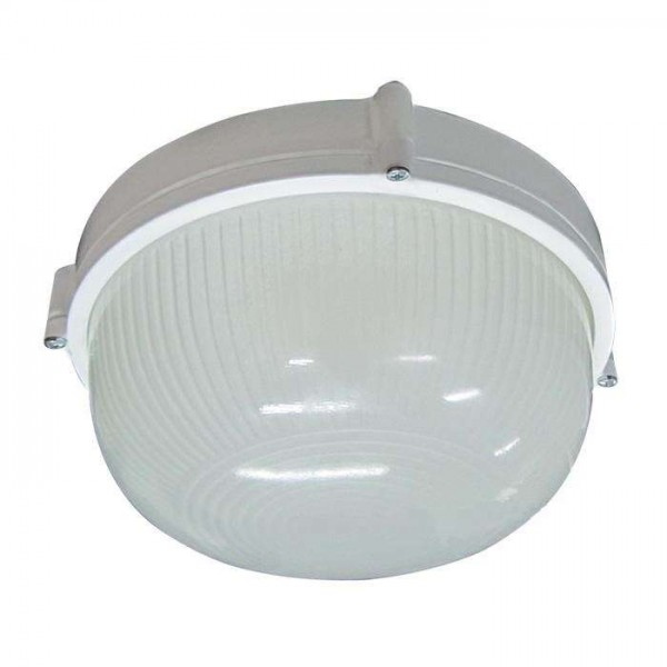 Светильник НПП 03-60-013 'Банник' 1301 круг малый 1х60Вт E27 IP65 корпус бел. Элетех 1005500934