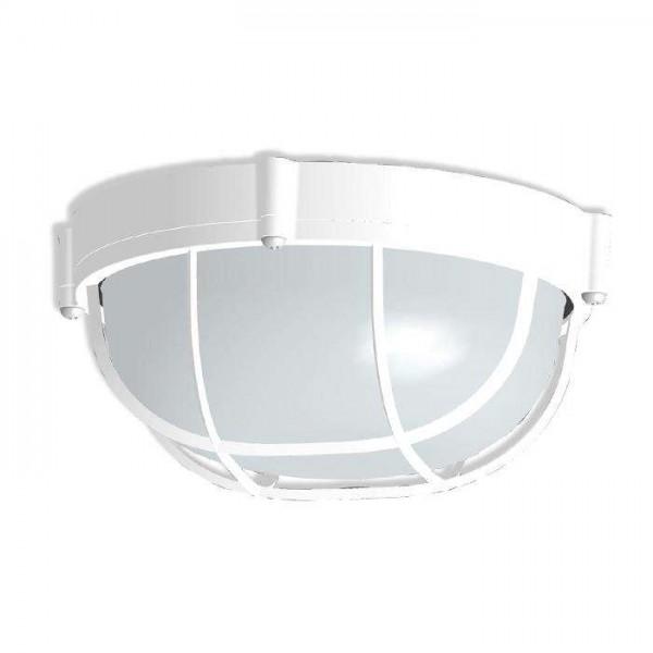 Светильник НПП 03-60-014 'Банник' 1302 круг малый 1х60Вт E27 IP65 корпус с решеткой бел. Элетех 1005500936