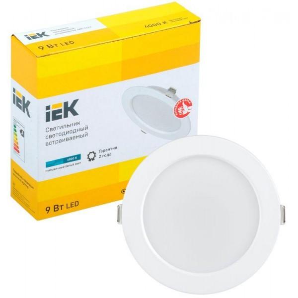 Светильник светодиодный ДВО 1612 9Вт 4000К IP20 круг бел. IEK LDVO0-1612-09-4000-K01