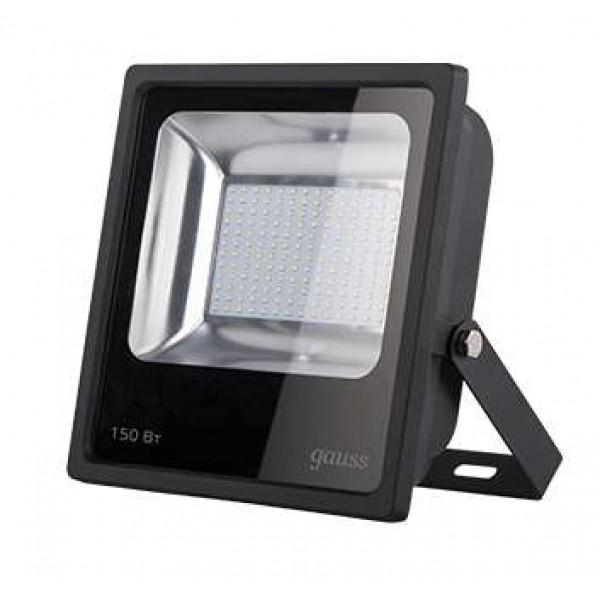 Прожектор светодиодный Elementary LED 150Вт IP65 6500К черн. Gauss 613100150