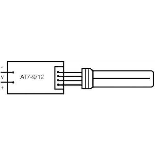 Лампа люминесцентная компакт. DULUX S/E 9W/840 2G7 OSRAM 4050300020174