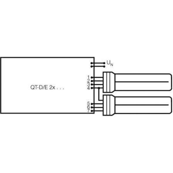 Лампа люминесцентная компакт. DULUX D/E 26W/840 G24q-3 OSRAM 4050300020303
