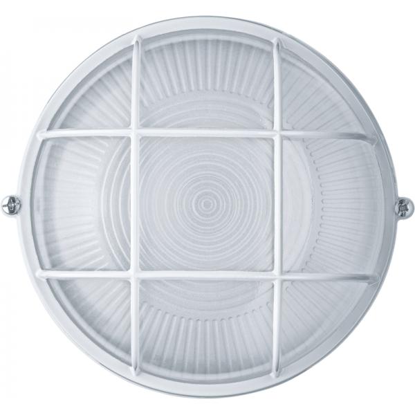 Светильник ЛОН 94 803 NBL-R2-60-E27/WH 1х60Вт E27 IP54 (аналог НПБ 1302 бел. круг с решеткой 60Вт) Navigator 94803